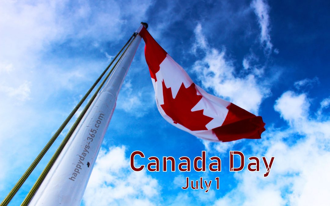 Canada day july 1 flag image