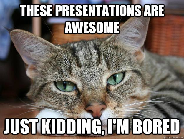 Funny Bored Meme These Presentations Are Awesome Just Kidding I Am Bored Picture