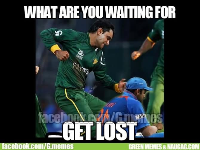 Funny Cricket Meme What Are You Waiting For Get Lost Image