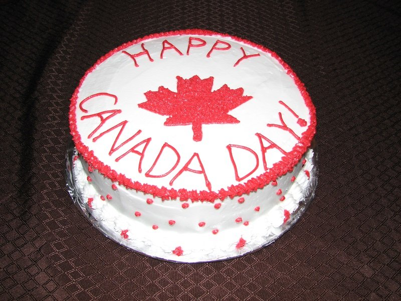 Happy canada day cake picture