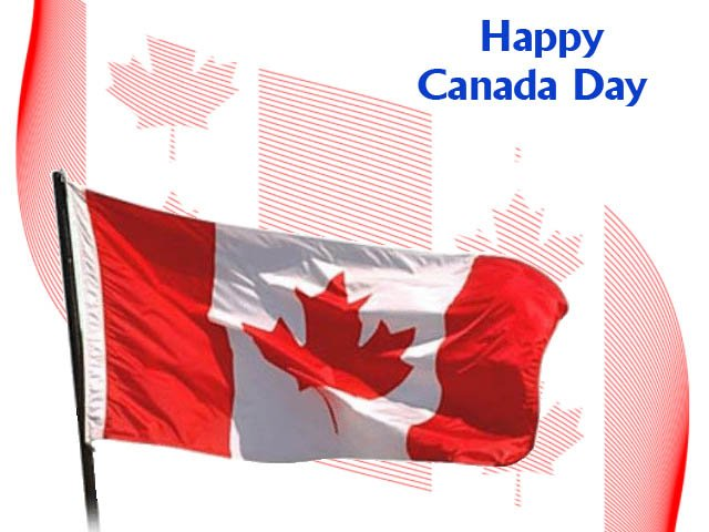 Happy canada day flag picture