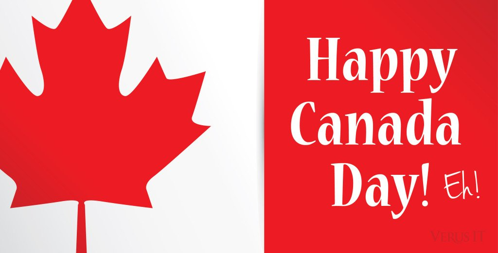 Happy canada day greeting cards