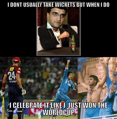 I Don't Usually Take Wickets But When I Do I Celebrate It Like I Just Won The Worldcup Funny Cricket Meme Image