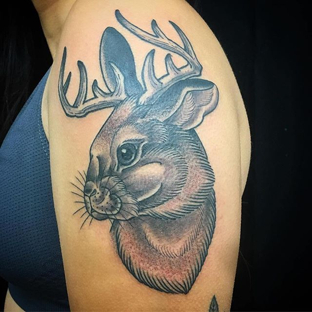 Jackalope Tattoo Image