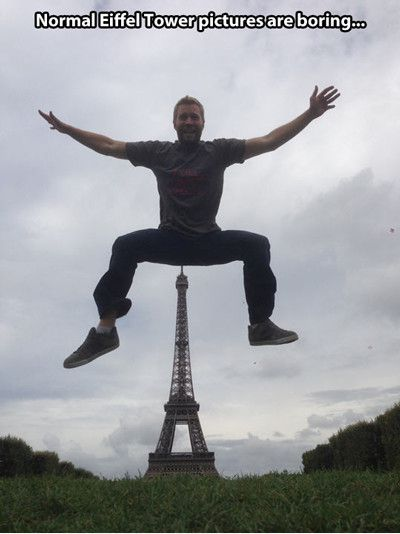 Normal Eiffel Tower Pictures Are Boring Funny Bored Meme Picture