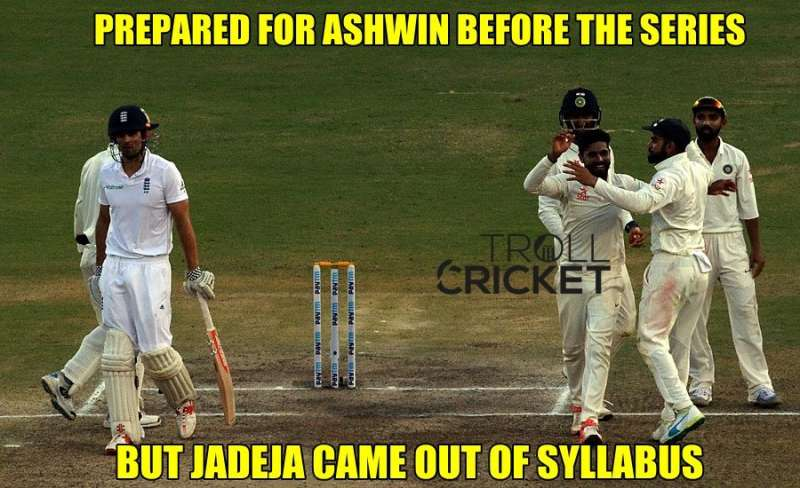 Prepared For Ashwin before the series but jadeja came out of syllabus.