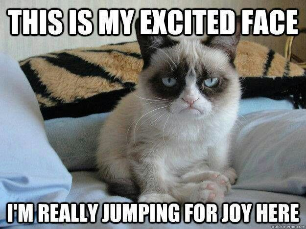 This Is My Excited Face I Am Really Jumping For Joy Here Funny Bored Meme Image