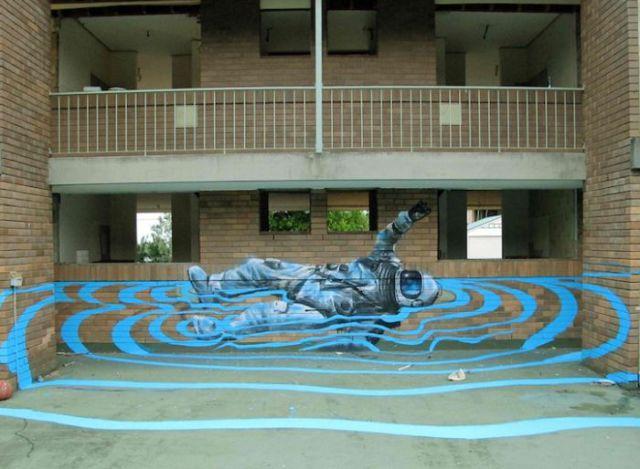 Floating Street Art