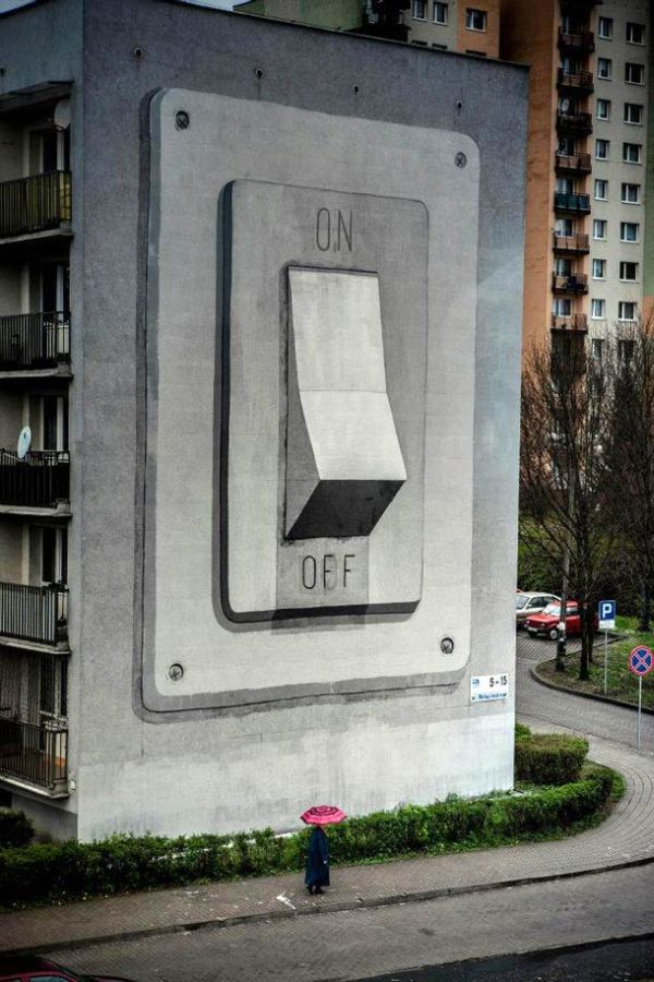 Humongous OnOff Switch Mural