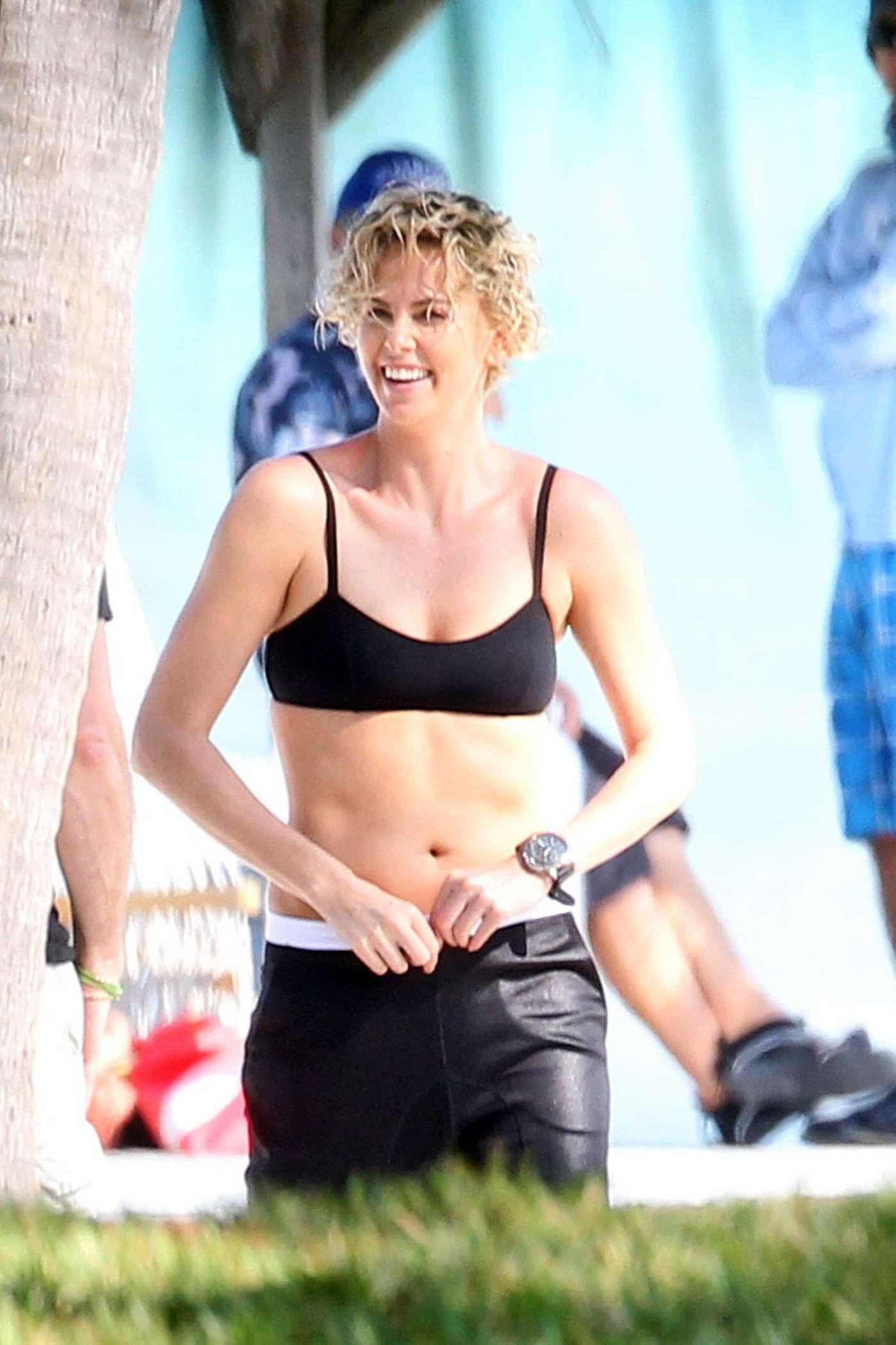 charlize theron bikini swimsuit