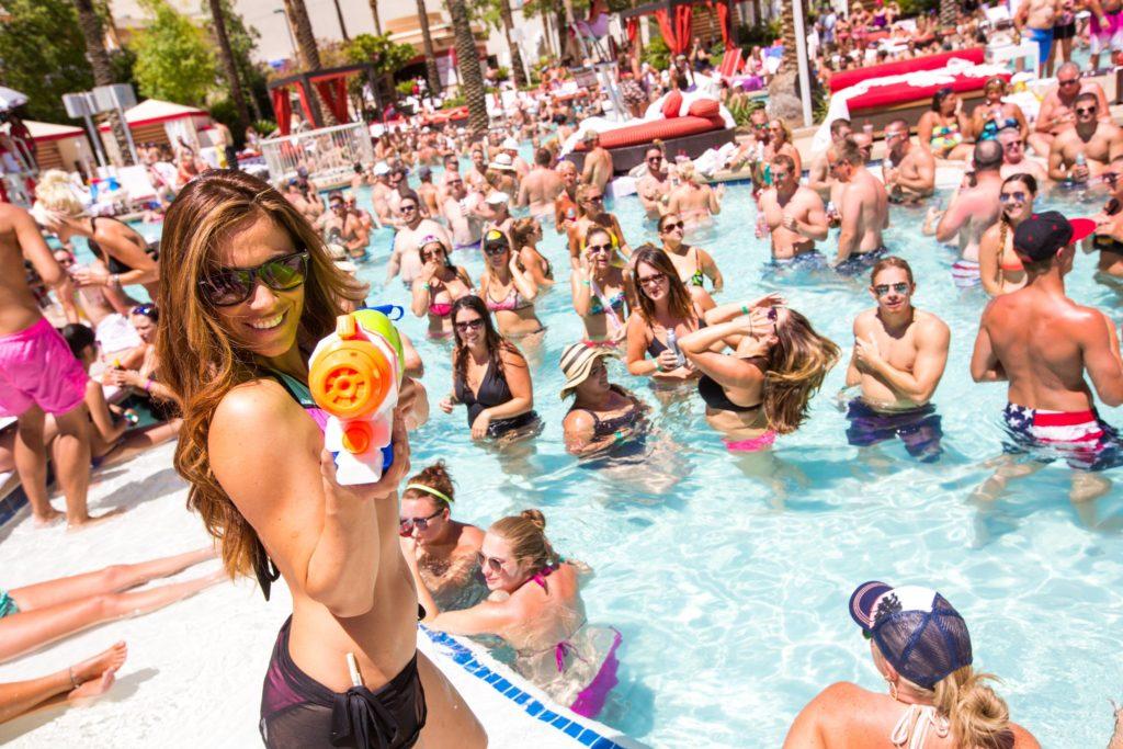 top pool party in vegas