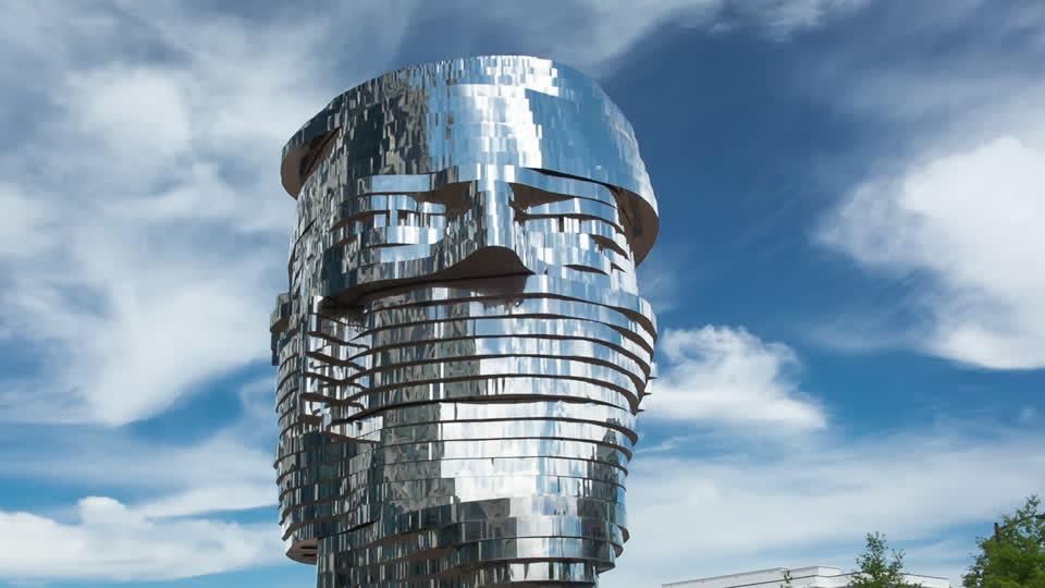 Beautiful Metalmorphosis Sculpture