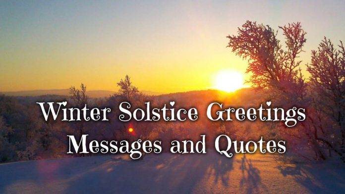 Winter Solstice Greetings Messages