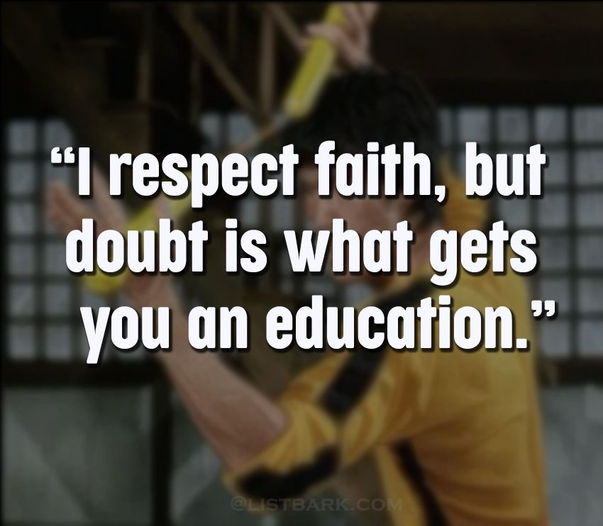 Bruce Lee Famous Quotes