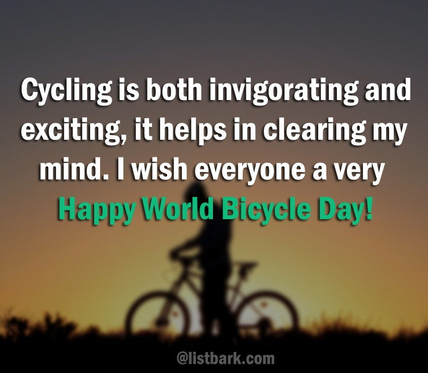 World Bicycle Day Messages Images