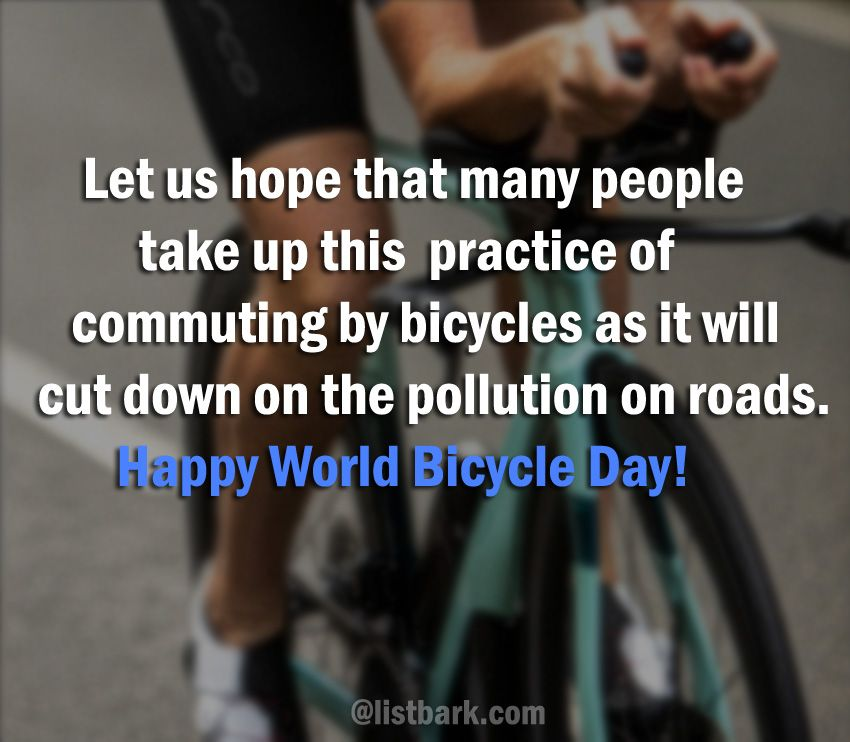 World Bicycle Day Messages